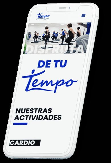 Centro deportivo Tempo web