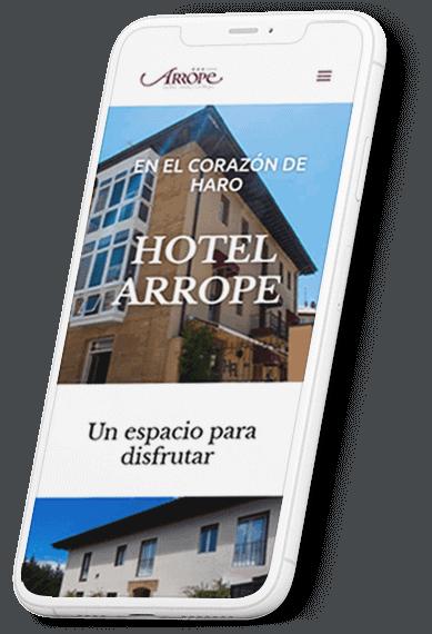 Hotel Arrope web